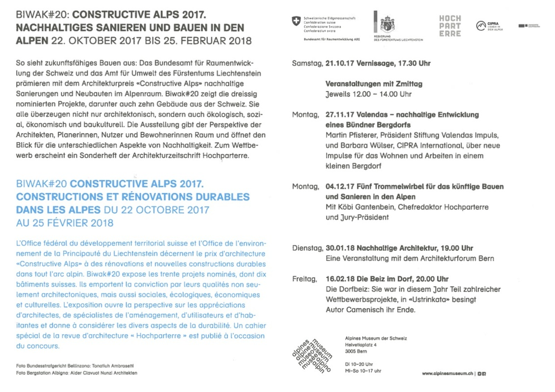 Biwak#20 Constructive Alps 2017 - Vernissage