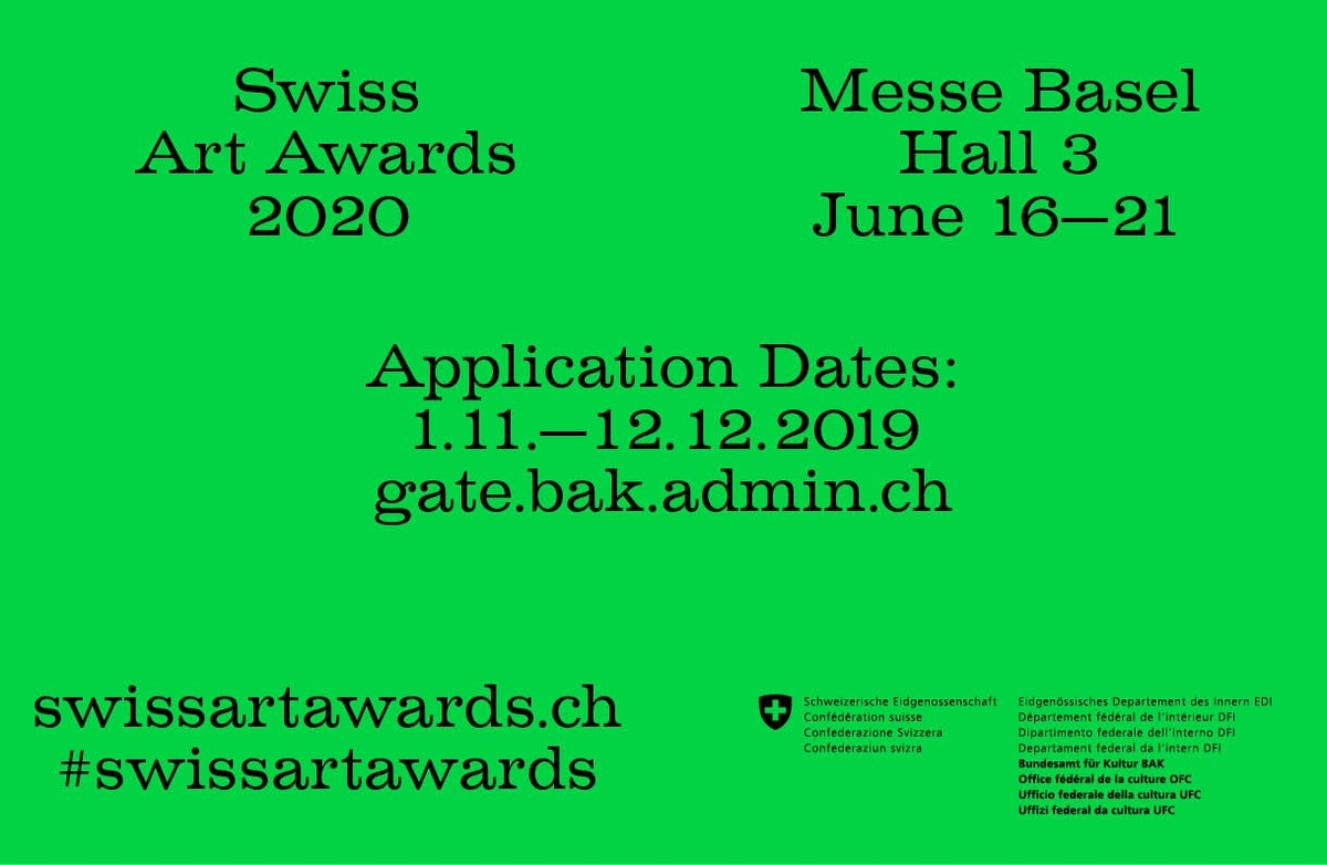 Swiss Art Awards 2020
